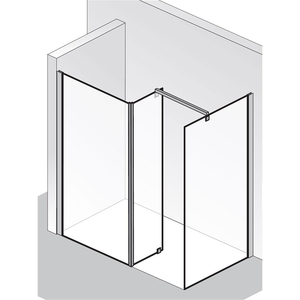 hsk walk in dusche atelier 1710090 1730090 frontelement mit seitenteil und freistehender. Black Bedroom Furniture Sets. Home Design Ideas