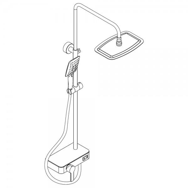 HSK Shower-Set AquaSwitch Softcube Mix