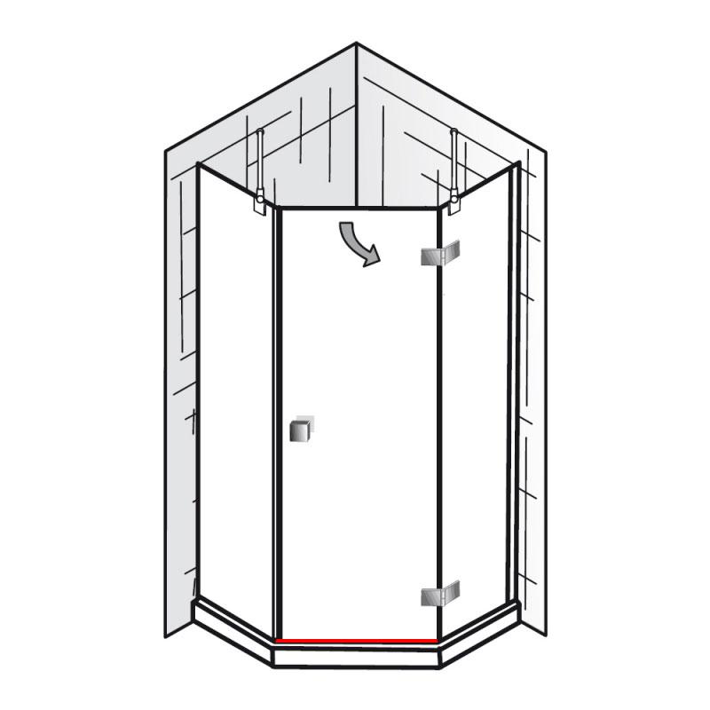 wasserabweisprofil et atelier f nfeckdusche 3 teilig ersatzteile atelier ersatzteile. Black Bedroom Furniture Sets. Home Design Ideas