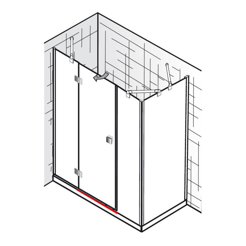 wasserleiste inkl endkappen et atelier raumnische mit. Black Bedroom Furniture Sets. Home Design Ideas