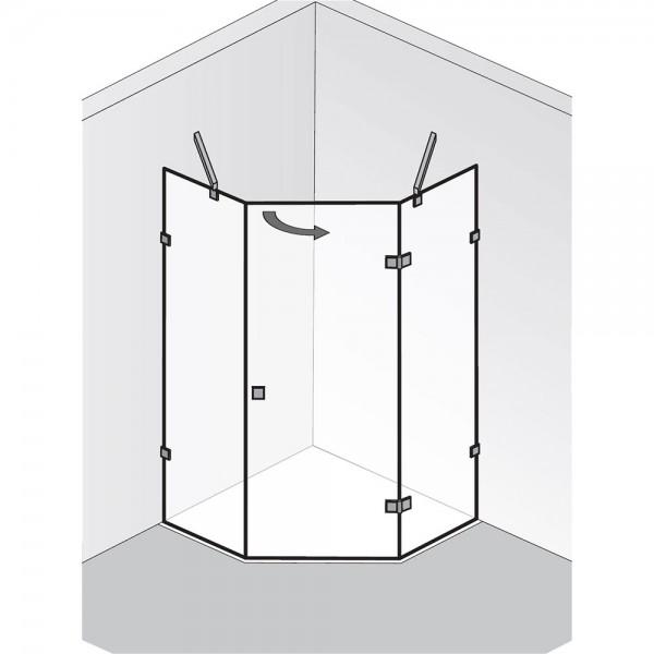 HSK Atelier Pur AP.60 1 Drehtür und 2 Seitenteile