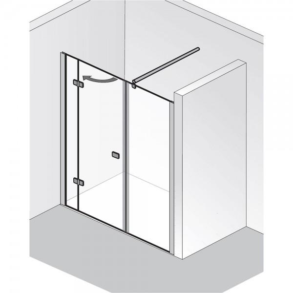 HSK Premium Softcube Raumnische Drehtür 3-teilig
