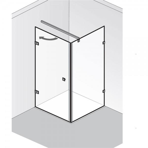 HSK Atelier Pur AP.20 Drehtür mit Seitenwand