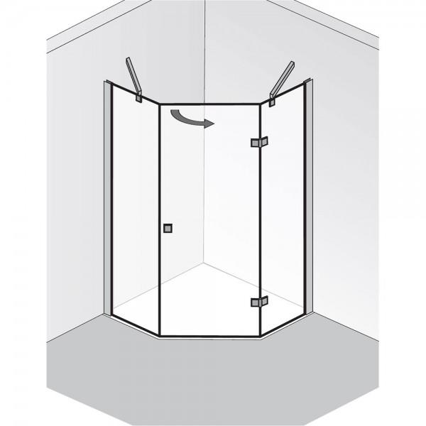 HSK Atelier Fünfeckdusche 3-teilig