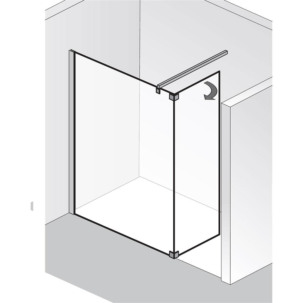 hsk walk in atelier glaselement und bewegliches seitenteil hsk walk in duschkabinen hsk. Black Bedroom Furniture Sets. Home Design Ideas