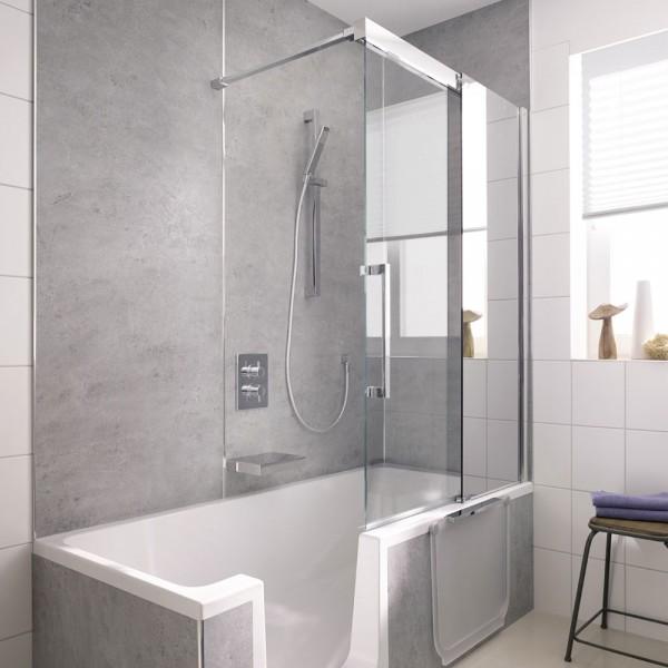 HSK Badewannenaufsatz K2P Gleittür 2-teilig