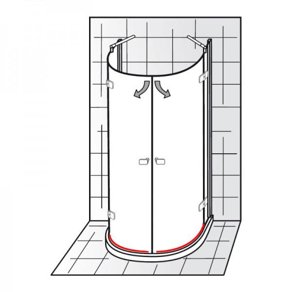 wasserabweisprofil inkl einschubdichtung et softcube runddusche halbkreis ersatzteile. Black Bedroom Furniture Sets. Home Design Ideas