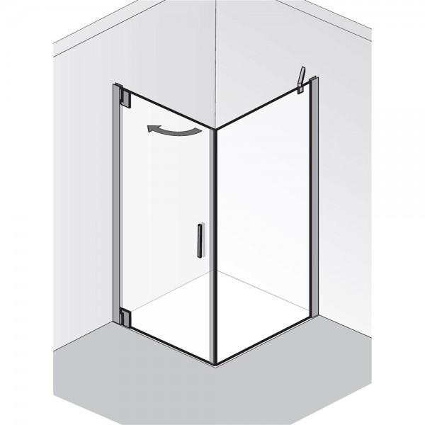 HSK Duschkabine K2P Drehtür mit Seitenwand