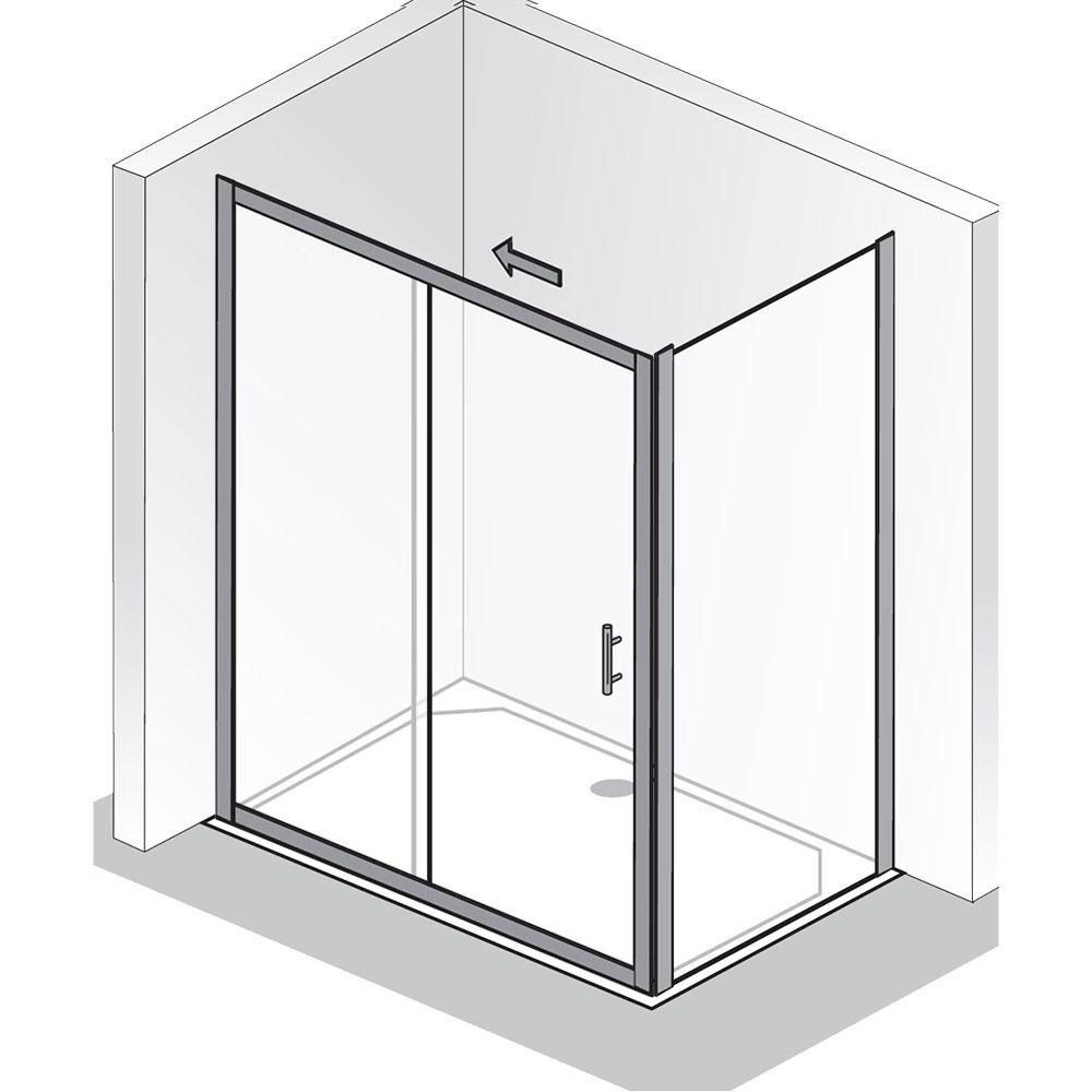 hsk favorit gleitt r 2 teilig seitenwand hsk t r mit. Black Bedroom Furniture Sets. Home Design Ideas