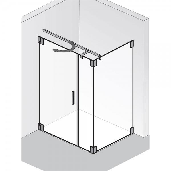 HSK K2.21 Tür mit Nebenteil und Seitenwand