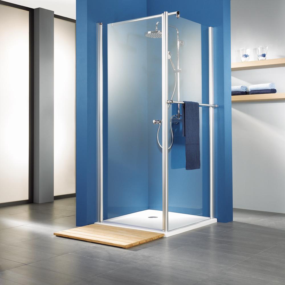 hsk exklusiv eck duschkabine mit dreht r aus 6 mm glas. Black Bedroom Furniture Sets. Home Design Ideas