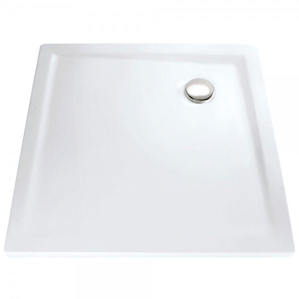 HSK Duschwanne quadratisch – Duschtasse Marmor Polymer, super flach