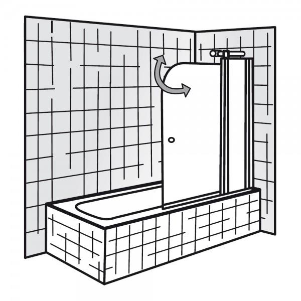 hsk badewannenaufsatz exklusiv 2 teilig mit festelement. Black Bedroom Furniture Sets. Home Design Ideas