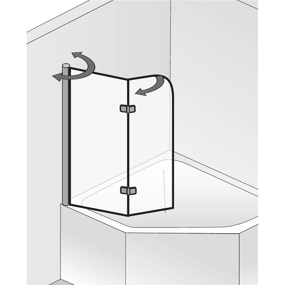 hsk badewannenaufsatz exklusiv 406600 badewannenfaltwand 2 teilig f r eck badewanne. Black Bedroom Furniture Sets. Home Design Ideas