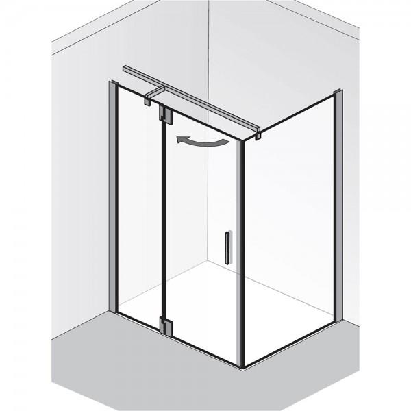 HSK Duschkabine K2P Tür an Nebenteil mit Seitenwand
