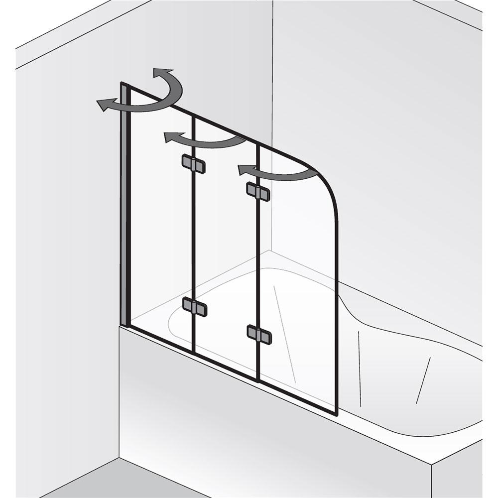 badewannenaufsatz hsk premium softcube 3 teilig art 6807114. Black Bedroom Furniture Sets. Home Design Ideas