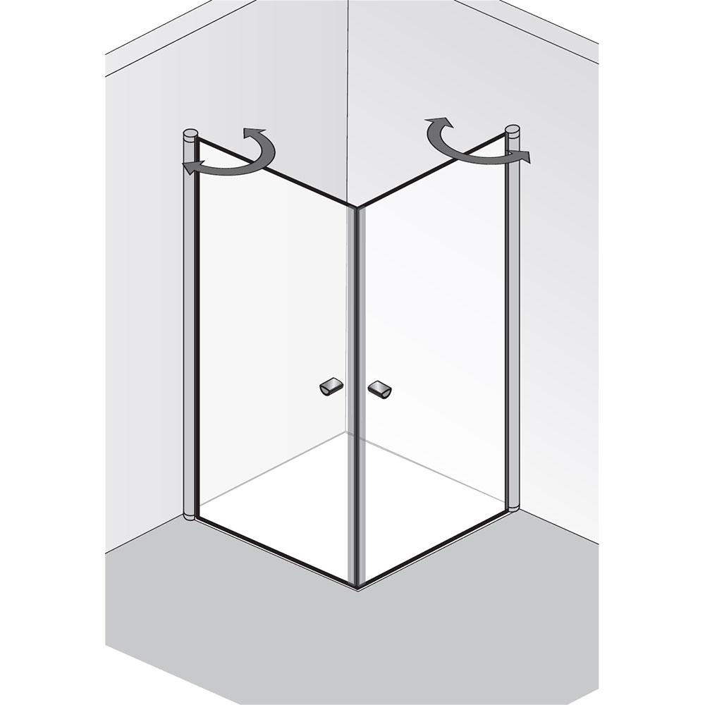 hsk duschkabine eckeinstieg 2 teilig exklusiv 420010. Black Bedroom Furniture Sets. Home Design Ideas