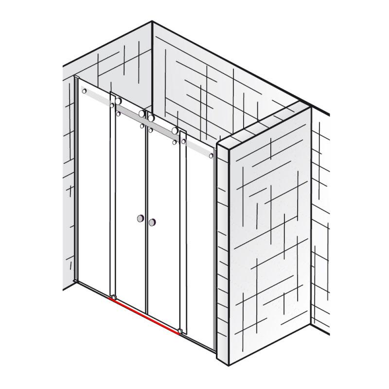 wasserleiste inkl endkappen et atelier gleitt r 4 teilig ersatzteile atelier. Black Bedroom Furniture Sets. Home Design Ideas
