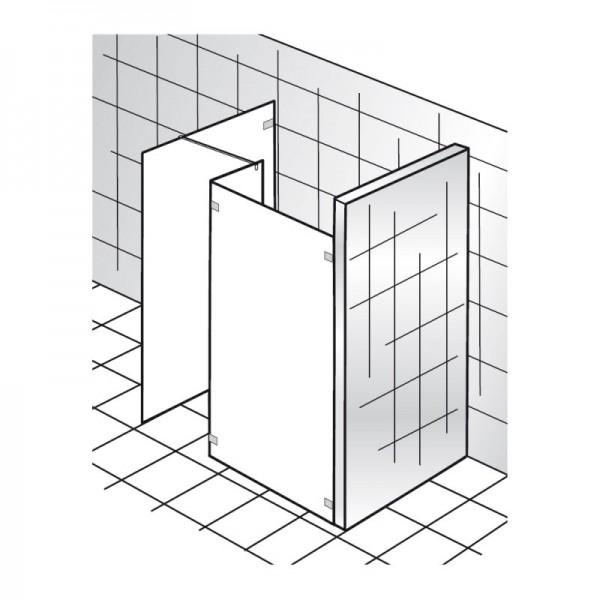 HSK Walk In Kienle Glasfront + Seitenteil + freie Seitenwand