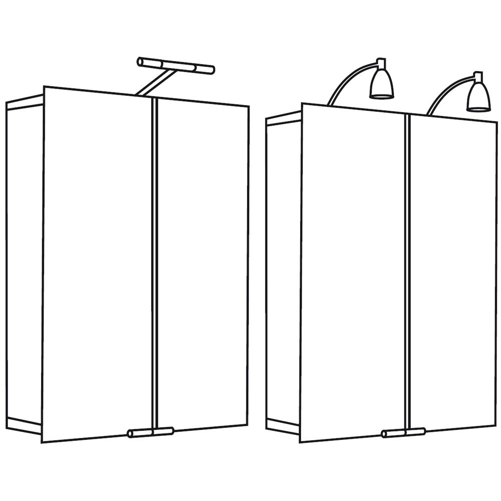 spiegelschrank alu mit stableuchte 1102060 asp 300 60 x 75 cm hsk badezimmerschrank. Black Bedroom Furniture Sets. Home Design Ideas