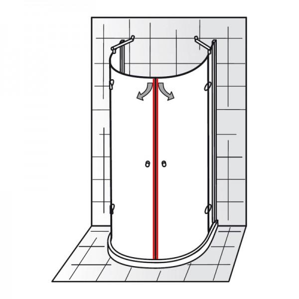 magnet 90 et premium runddusche halbkreis. Black Bedroom Furniture Sets. Home Design Ideas