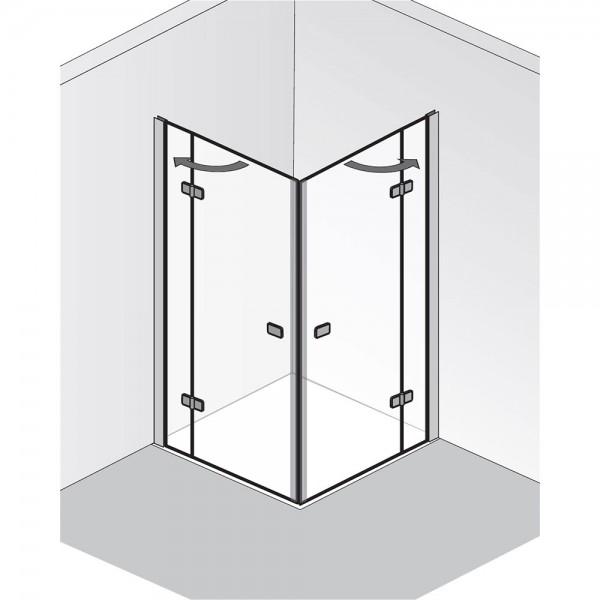 HSK Premium Softcube Eckeinstieg Drehtür 4-teilig