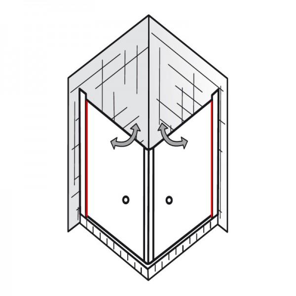 au endichtung et exklusiv eckeinstieg 2 teilig ersatzteile exklusiv ersatzteile hsk. Black Bedroom Furniture Sets. Home Design Ideas