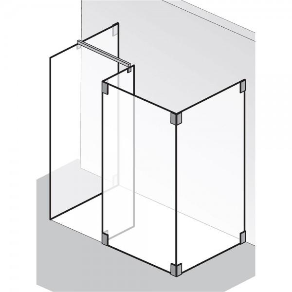 HSK Walk In K2 1 Glaselement mit Seitenwand + Seitenteil + freistehende Seitenwand