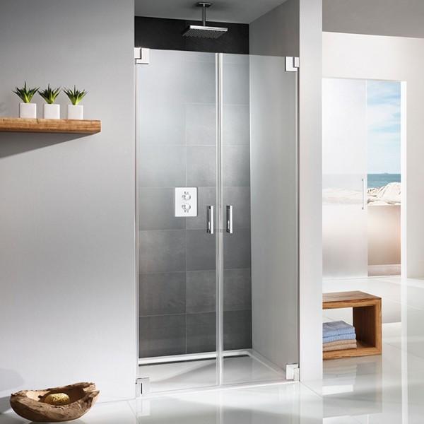 hsk pendelt r aus glas 2 teilige duschabtrennung. Black Bedroom Furniture Sets. Home Design Ideas