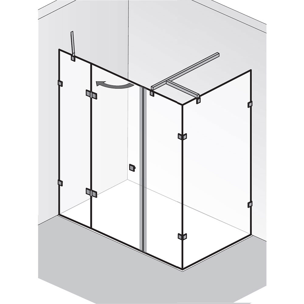 hsk duschkabine atelier pur dreht r an nebenteil mit seitenwand. Black Bedroom Furniture Sets. Home Design Ideas