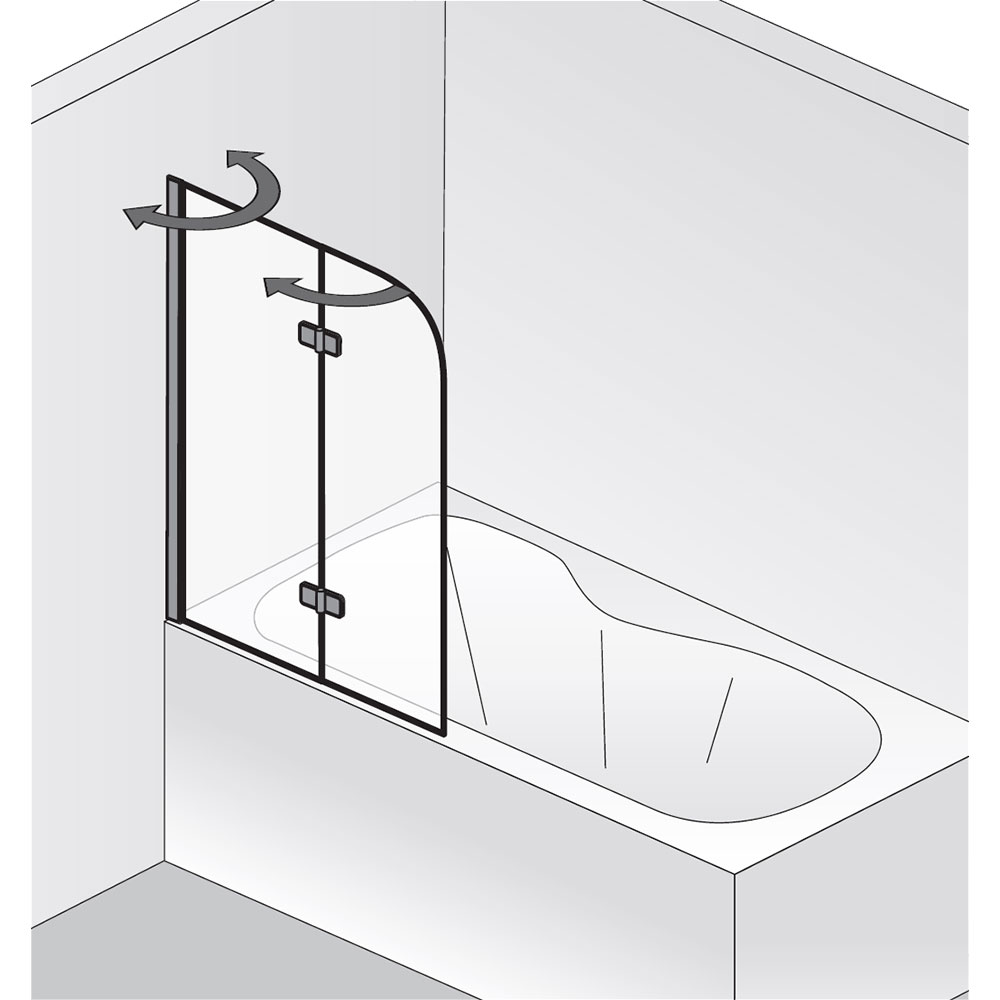 hsk badewannenaufsatz premium softcube pendelbar 2 teilig. Black Bedroom Furniture Sets. Home Design Ideas