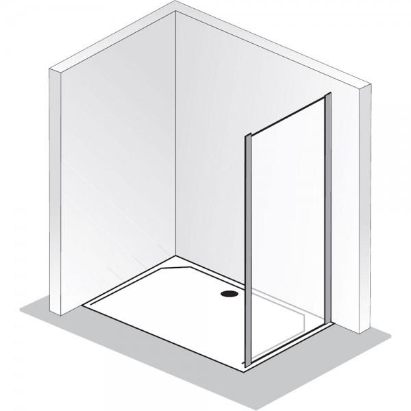 HSK Solida Seitenwand zur Gleittür 2-teilig