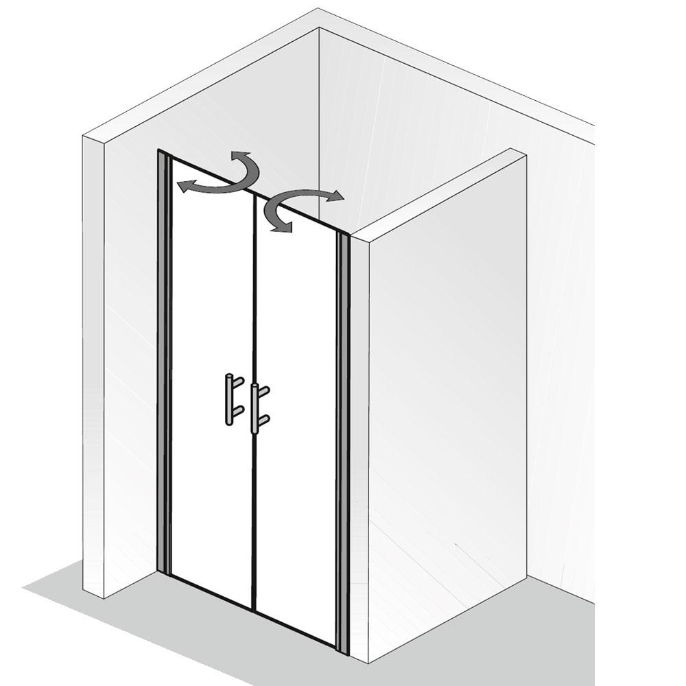 hsk nischent r favorit nova duscht r pendelt r f r nische. Black Bedroom Furniture Sets. Home Design Ideas