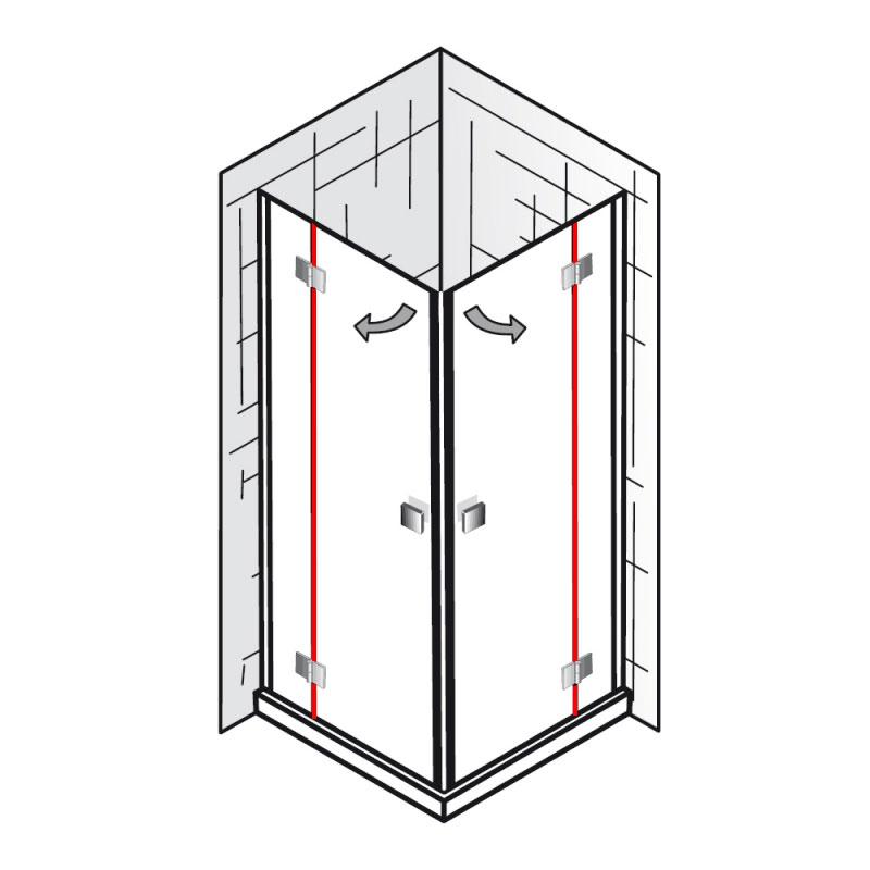 dichtung vertikal et atelier eckeinstieg 4 teilig ersatzteile atelier ersatzteile hsk. Black Bedroom Furniture Sets. Home Design Ideas