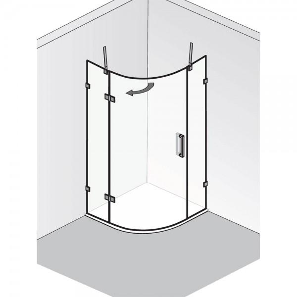 HSK Atelier Plan Pur Runddusche 3-teilig AP.240