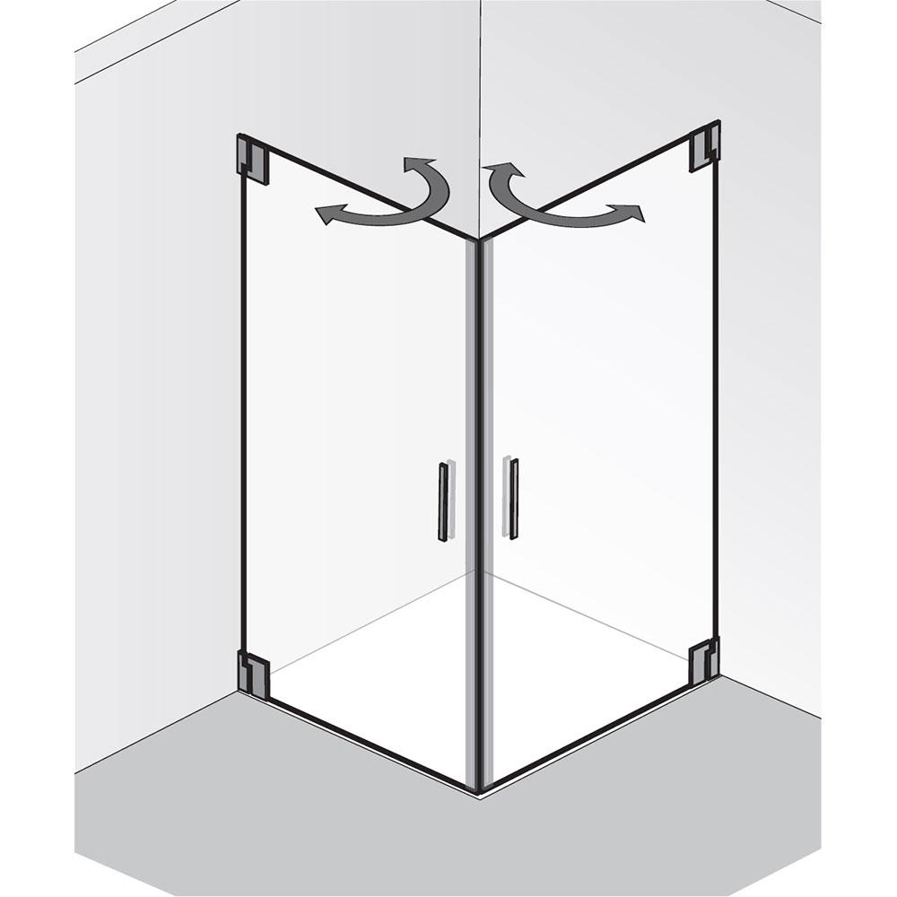 hsk rahmenlose duschkabine eckeinstieg 2 teilig. Black Bedroom Furniture Sets. Home Design Ideas