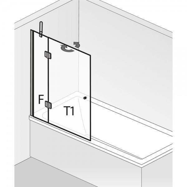 HSK Badewannenaufsatz Aperto 2-teilig pendelbar