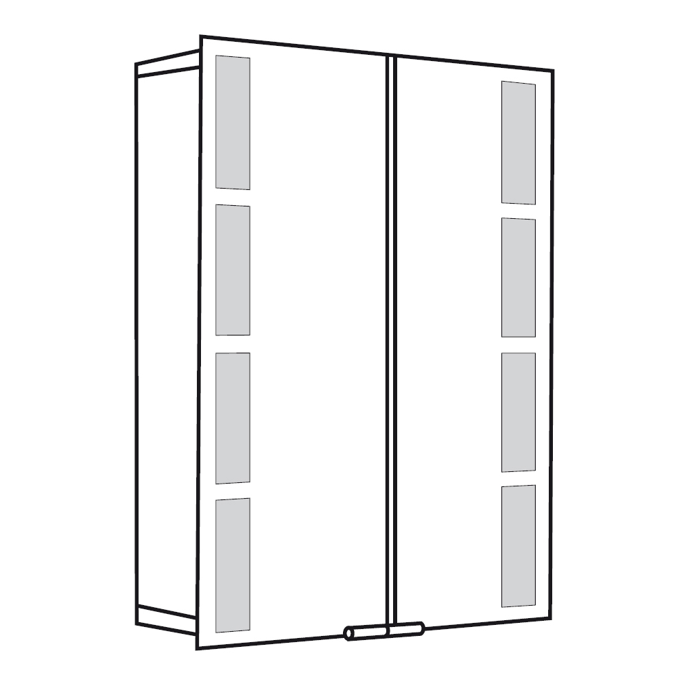 spiegelschrank alu 1122060 asp 500 60 x 75 cm hsk badezimmerschrank. Black Bedroom Furniture Sets. Home Design Ideas