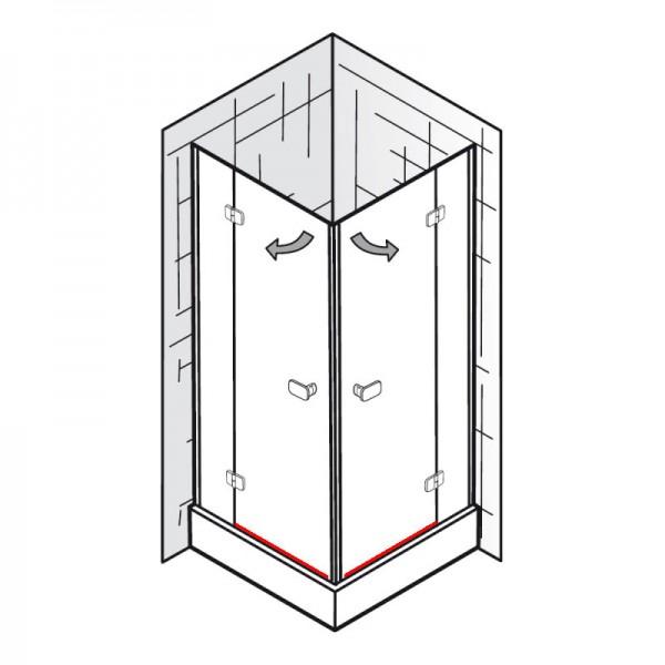 wasserabweisprofil inkl einschubdichtung et softcube eckeinstieg 4 teilig ersatzteile. Black Bedroom Furniture Sets. Home Design Ideas