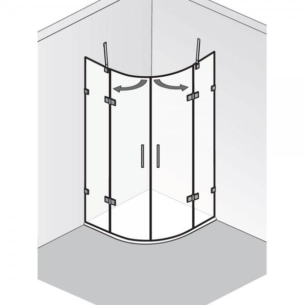 HSK Atelier Plan Pur Runddusche 4-teilig AP.243