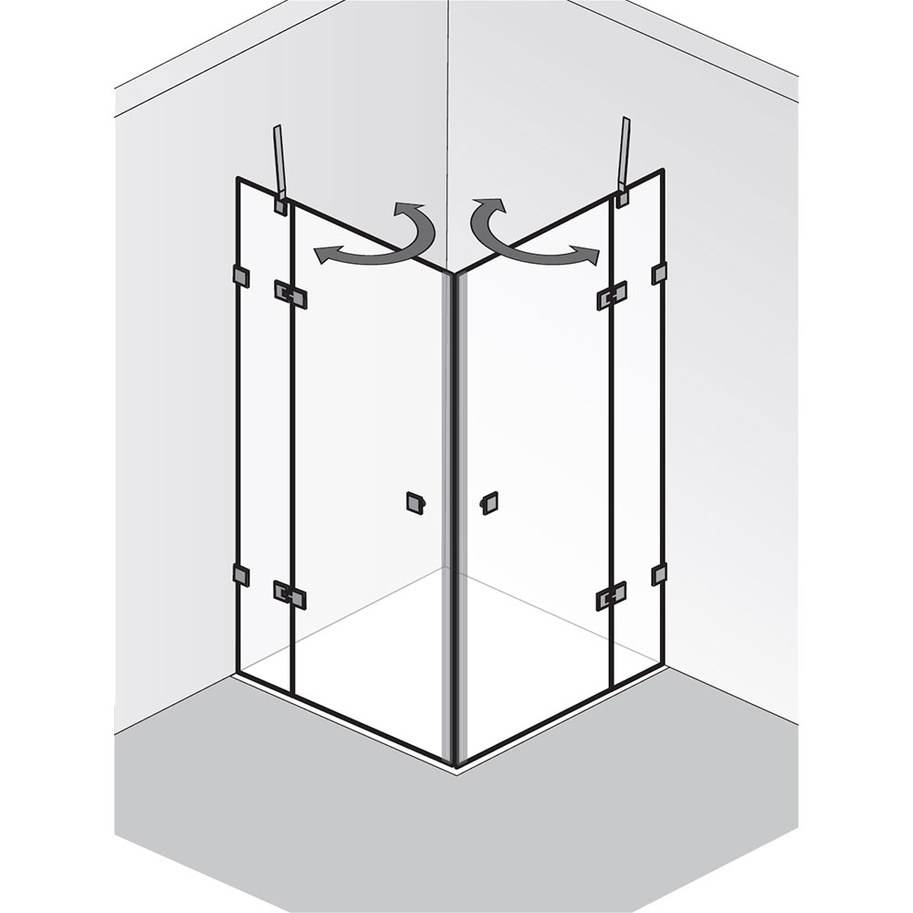 hsk atelier pur eckeinstieg mit pendelt ren. Black Bedroom Furniture Sets. Home Design Ideas