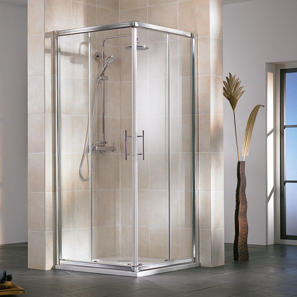 hsk favorit gleitt r eckeinstieg 4 teilig duschkabine mit schiebet ren. Black Bedroom Furniture Sets. Home Design Ideas