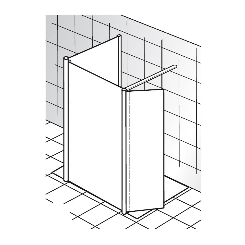 hsk walk in dusche easy 1 1290900 schwenkbares seitenteil und seitenwand duschkabine von. Black Bedroom Furniture Sets. Home Design Ideas
