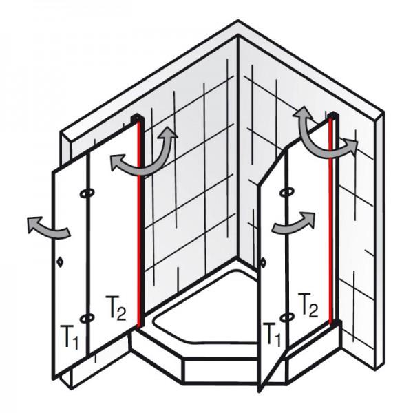 au endichtung et exklusiv f nfeckdusche mit drehfaltt r ersatzteile exklusiv ersatzteile. Black Bedroom Furniture Sets. Home Design Ideas