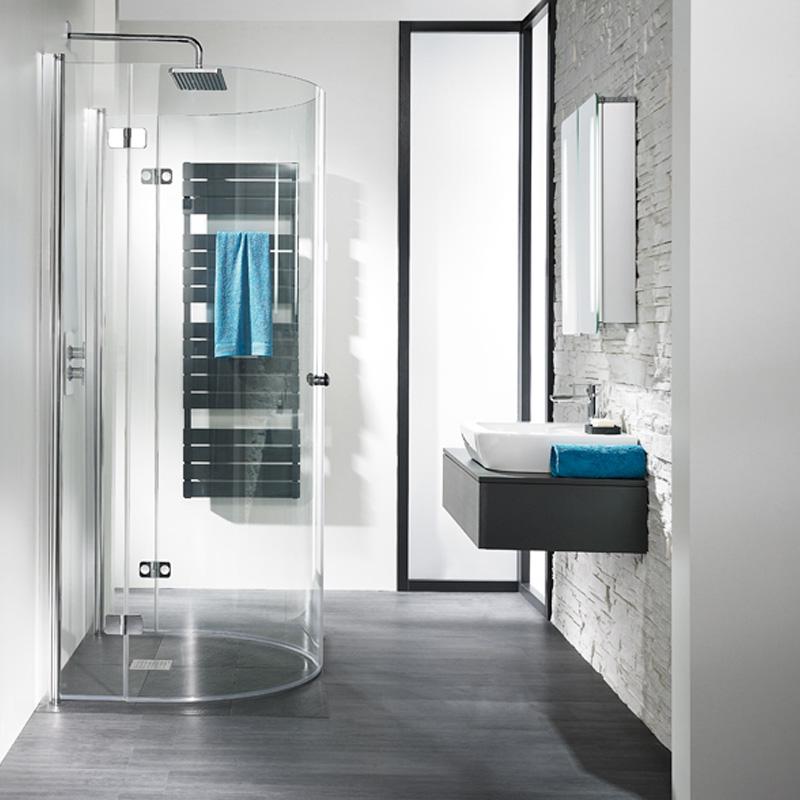 hsk u form duschkabinen zur montage an einer wand. Black Bedroom Furniture Sets. Home Design Ideas