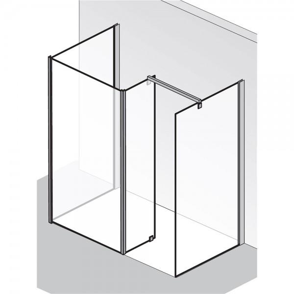 HSK Walk In Atelier Glasfront Seitenteil, 2 Seitenwände