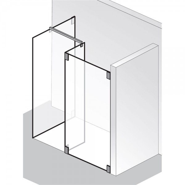 HSK Walk In K2 - 1 Glaselement Seitenteil freistehende Seitenwand