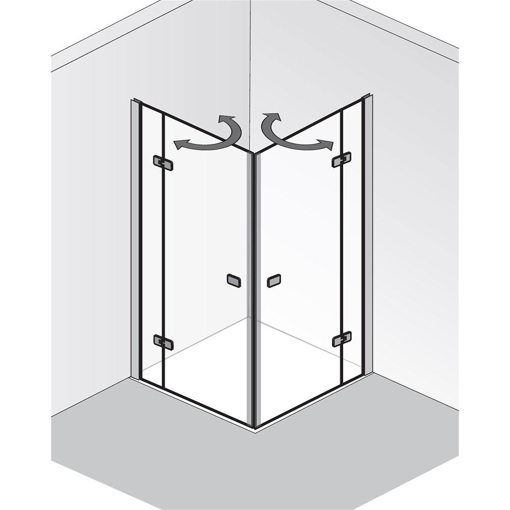 hsk premium softcube eckeinstieg dreht r pendelbar 4 teilig hier bestellen. Black Bedroom Furniture Sets. Home Design Ideas