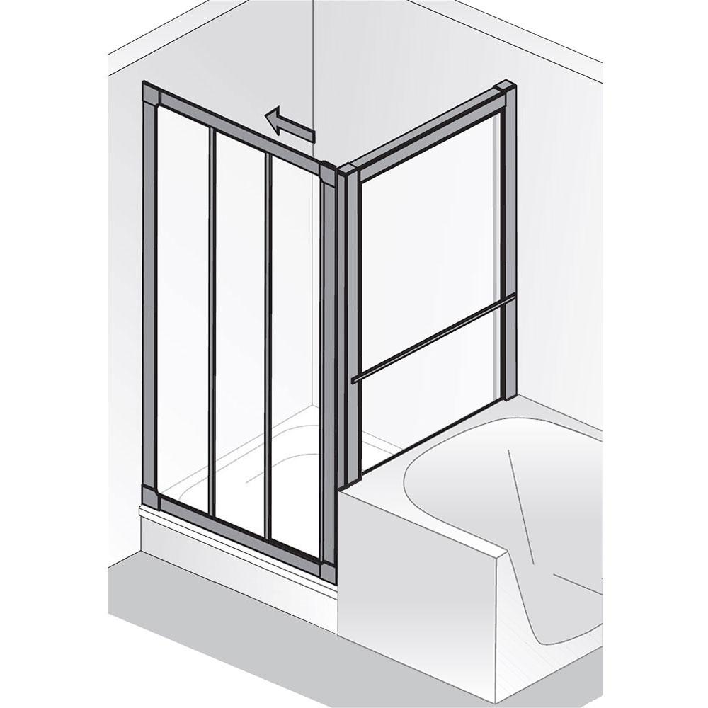 hsk prima gleitt r 3 teilig mit verk seitenwand kunstglas. Black Bedroom Furniture Sets. Home Design Ideas