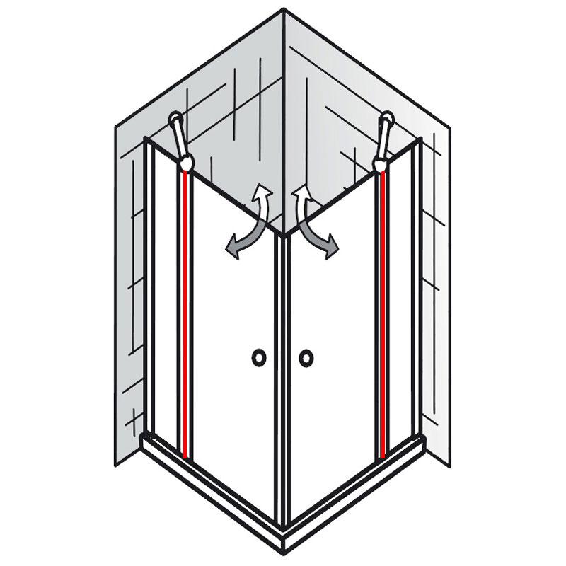 innendichtung et exklusiv eckeinstieg 4 teilig ersatzteile exklusiv ersatzteile hsk. Black Bedroom Furniture Sets. Home Design Ideas